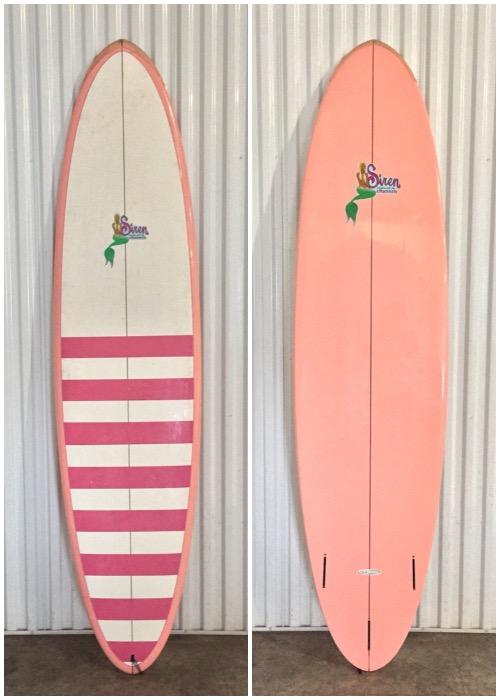 """Siren Siren x Channin """"Sol Desire"""" 7'6 Hybrid Surfboard by SurfTech"""