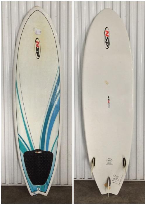 """6'4"""" NSP Fish - Hawaii Surfboard Rentals"""